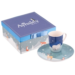 Aynsley Winter Animal Mug & Plate Set