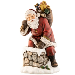 Aynsley Large Santa Climbing into the Chimney