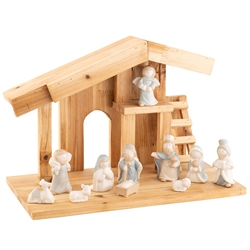 Belleek Living Away in a Manger Nativity Set
