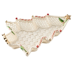 Belleek Classic Christmas Tree Basket