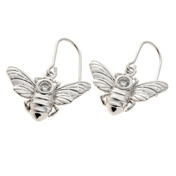 Belleek Living Jewellery Honey Bee Earrings
