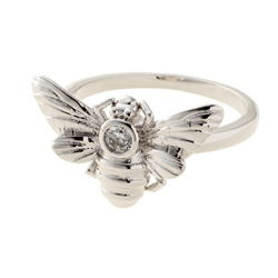 Belleek Designer Jewellery Honey Bee Ring