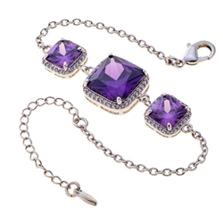Belleek Living Jewellery Amethyst Bracelet