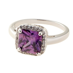 Belleek Designer Jewellery Amethyst Ring