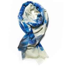 Galway Crystal Fashion Atlantic Blue Merino Scarf