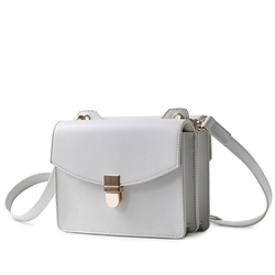 Galway Crystal Fashion Cross Body Double Sided Bag - Light Grey