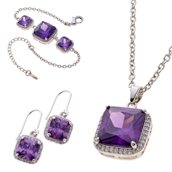 Belleek Living Jewellery Amethyst Collection