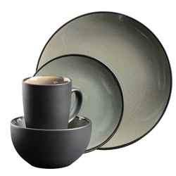 Graphite Stoneware 16 Piece Tableware Set