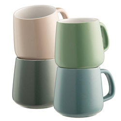 Belleek Living Air & Water Mug Set of 4