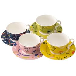 Verdant Tea Cups & Saucers Set of 4