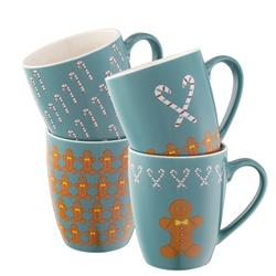 Home & Garden Gingerbread Men Set of 4 Mugs
