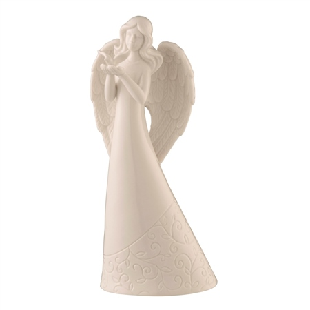 Belleek Living Angel with Dove  - Click to view a larger image