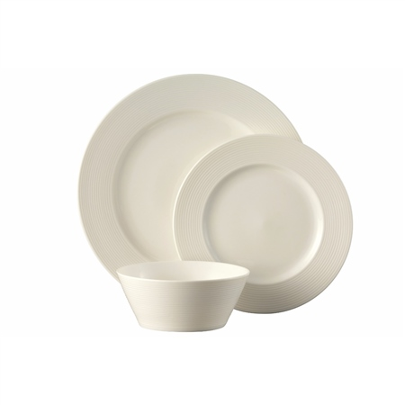 Belleek Living Ripple Dinnerware 12 Piece Set Belleek Living Ripple Tableware Collection - Click to view a larger image