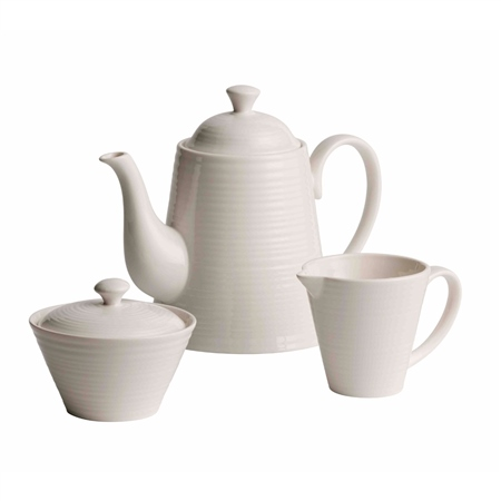 Belleek Living Ripple Beverage Set  - Click to view a larger image