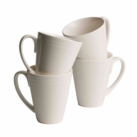 Belleek Living Ripple Mugs Set  - Click to view a larger image