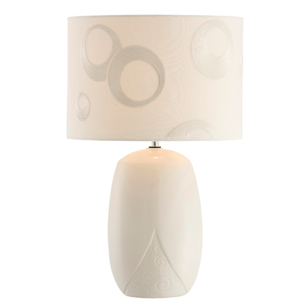 Belleek Living Swirl Lamp and Shade  - Click to view a larger image