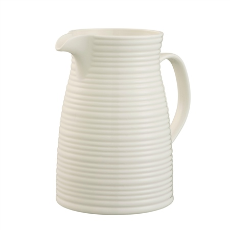 Belleek Living Ripple Jug Belleek Living Ripple Tableware Collection - Click to view a larger image