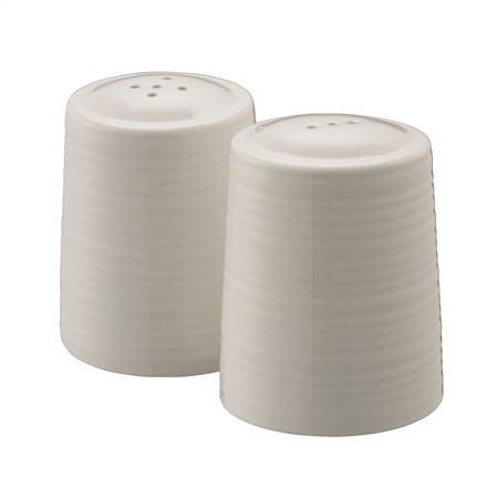 Belleek Living Ripple Salt and Pepper Shakers Belleek Living Ripple Tableware Collection - Click to view a larger image