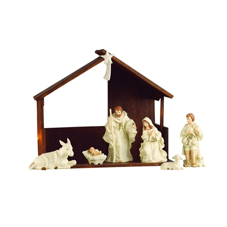 Belleek Living Nativity Set/ Scene  - Click to view a larger image