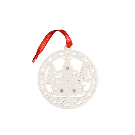 Belleek Living Christmas Forest Hanging Ornament  - Click to view a larger image