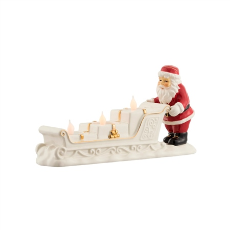 Belleek Living Santa and Sleigh Centrepiece  - Click to view a larger image