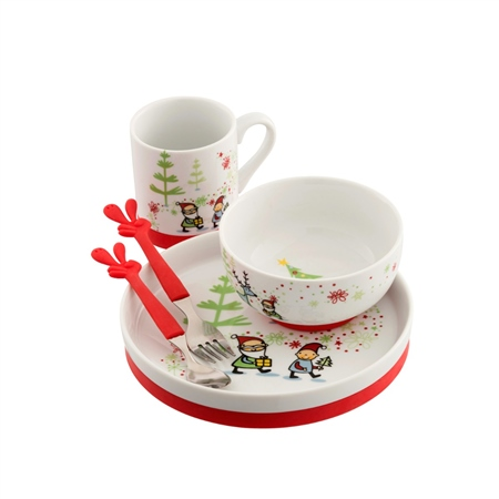 Aynsley Santa's Little Helper Dinner Set   - Click to view a larger image