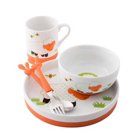 Aynsley Sheep 5 Piece Dinner Set  - Click to view a larger image