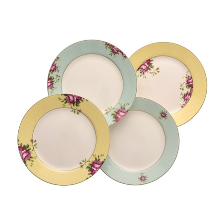 Aynsley Archive Rose Side Plates Set   - Click to view a larger image