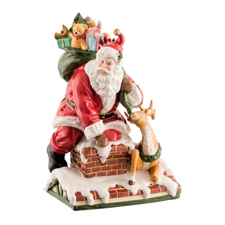 Aynsley Santa on the Roof  - Click to view a larger image