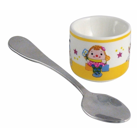 Aynsley Miss Humpty Egg Cup And Spoon   - Click to view a larger image