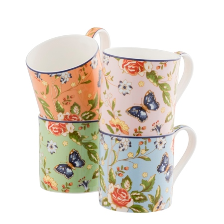 Aynsley Cottage Garden Windsor Mugs Set   - Click to view a larger image