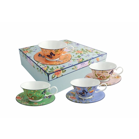 Aynsley Cottage Garden Windsor Teacup Saucer Set Click To View A Larger Image