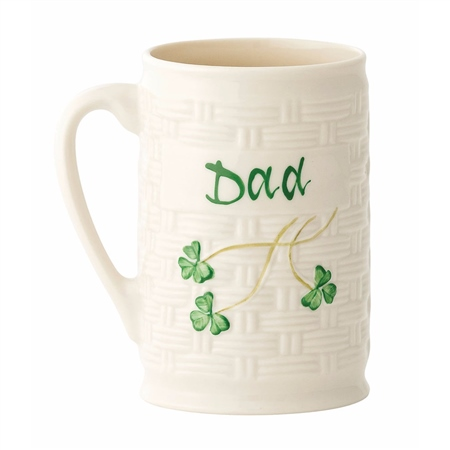 "Belleek Classic ""Dad"" Mug  - Click to view a larger image"