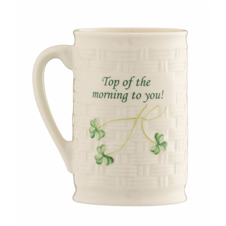 "Belleek Classic ""Top Of The Morning To You"" Mug   - Click to view a larger image"