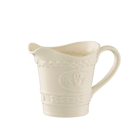 Belleek Classic Claddagh Cream Jug  - Click to view a larger image