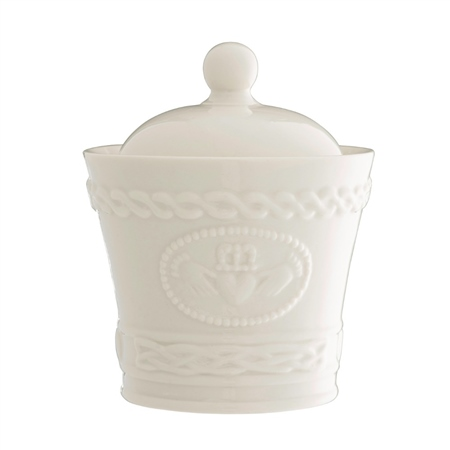 Belleek Classic Claddagh Sugar Bowl  - Click to view a larger image