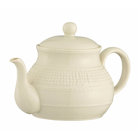 Belleek Classic GALWAY WEAVE TEAPOT   - Click to view a larger image