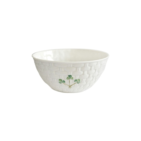Belleek Classic Shamrock Bowl Handcrafted Belleek Classic Shamrock Tableware - Click to view a larger image