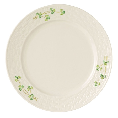 Belleek Classic Shamrock Dinner Plate  - Click to view a larger image