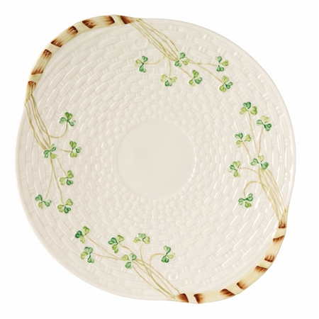 Belleek Classic Shamrock Bread Plate  - Click to view a larger image