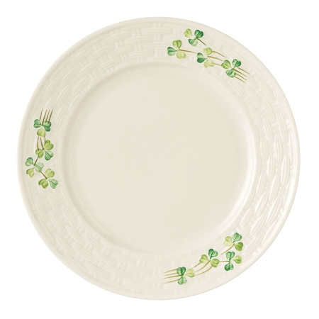 Belleek Classic Shamrock Salad Plate  - Click to view a larger image