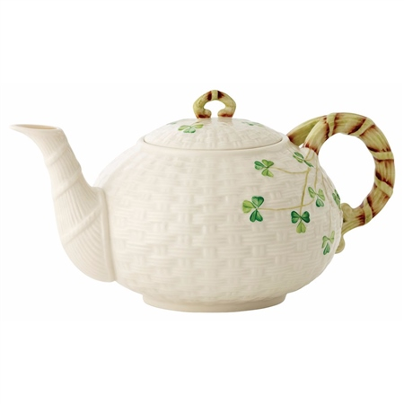 Belleek Classic Shamrock Teapot  - Click to view a larger image