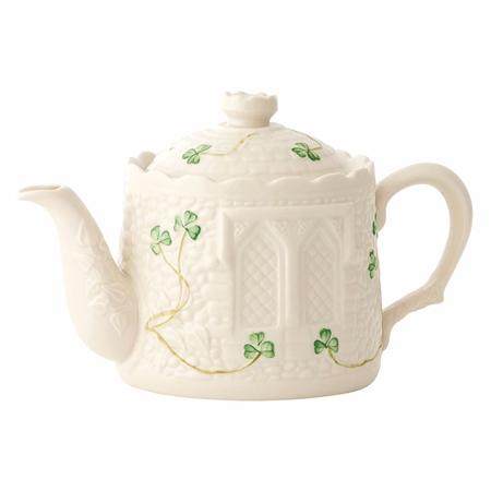 Belleek Classic Castle Teapot Belleek