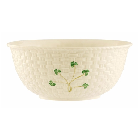 Belleek Classic Shamrock Mixing Bowl  - Click to view a larger image