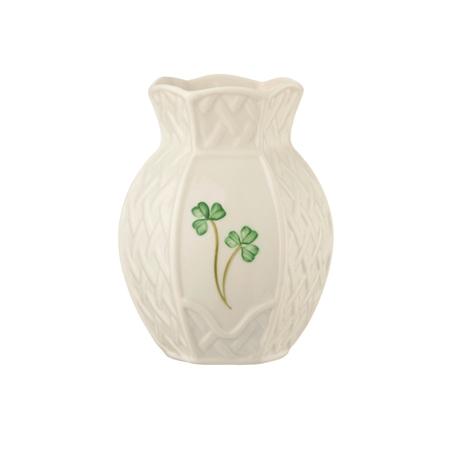 Belleek Classic Shamrock Trellis Violet Vase  - Click to view a larger image