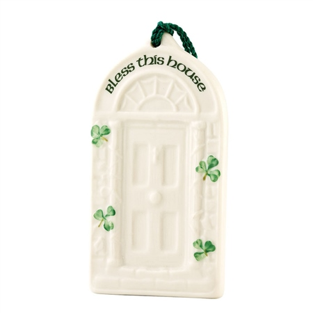 Belleek Classic House Blessing Ornament  - Click to view a larger image
