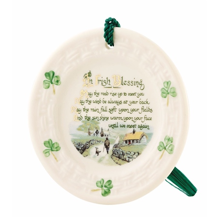Belleek Classic Irish Blessing Ornament  - Click to view a larger image