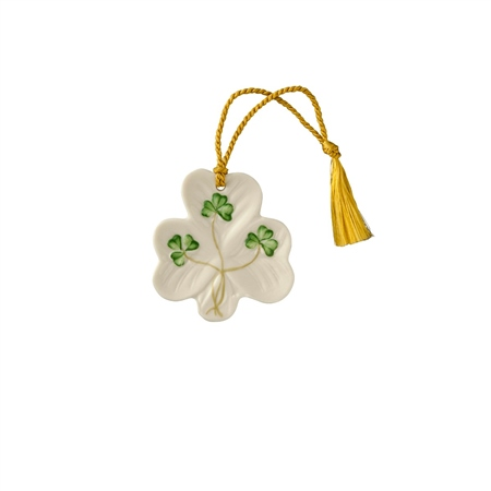 Belleek Classic Shamrock Hanging Ornament  - Click to view a larger image