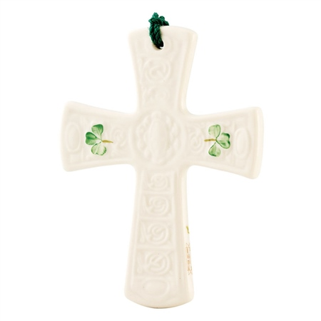 Belleek Classic St Patrick's Cross Ornament  - Click to view a larger image