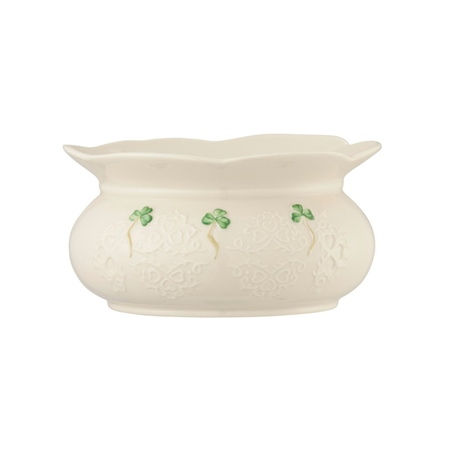 "Belleek Classic Shamrock Lace 6"" Bowl  - Click to view a larger image"